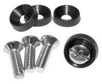 "Nickel Plated Screws (10-32 x 0.63"") with Plastic Washers"