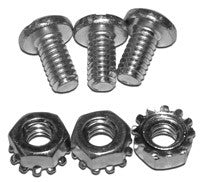 "Zinc Plated Screws (1/4-20 x 0.5"") with Captive Star Washer Nuts"