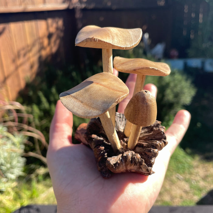 Wooden Mushrooms (small)