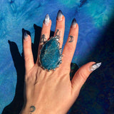 Blue Apatite Statement Ring