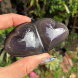 Rainbow Obsidian Heart duo no.2