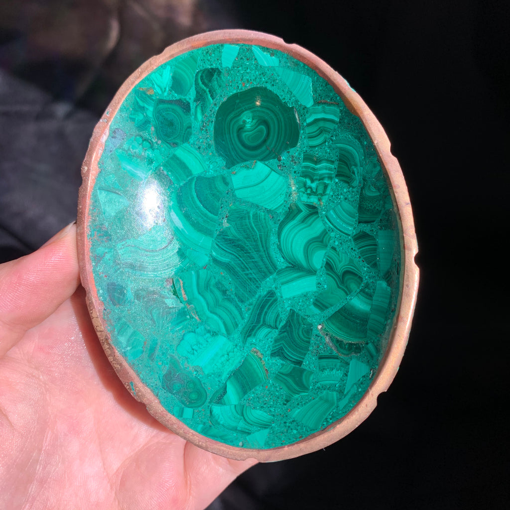 Delicate Malachite Bowl