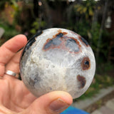 Angel Aura Agate druzy sphere no.3