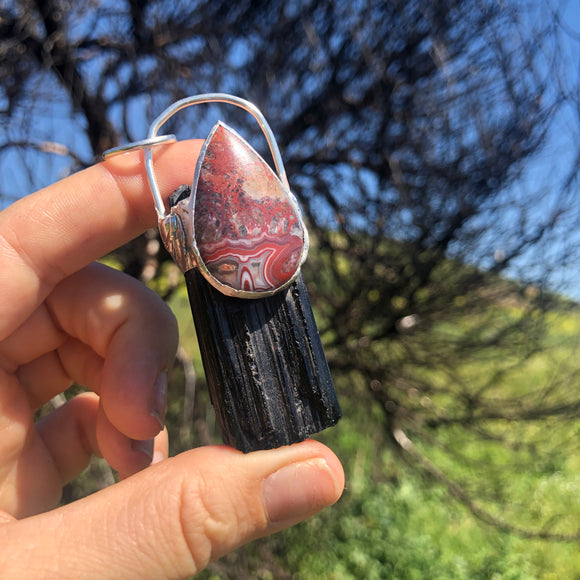 Crazy Lace Agate & Black Tourmaline