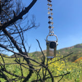 Smoky Quartz with faceted Black Spinel