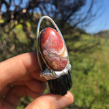 Crazy Lace Agate with Black Tourmaline