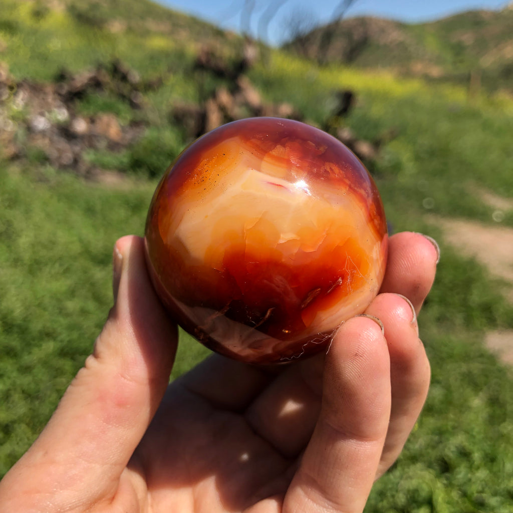 Carnelian Sphere No. 1