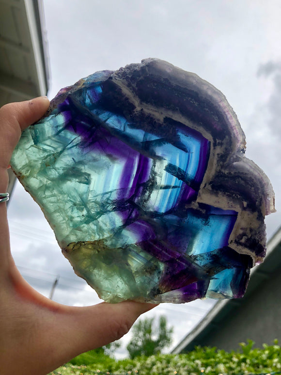 Mexican Rainbow Fluorite slab no.2