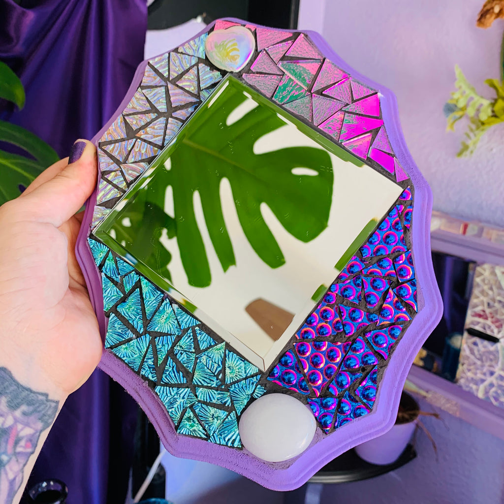 Purple Mosaic mirror
