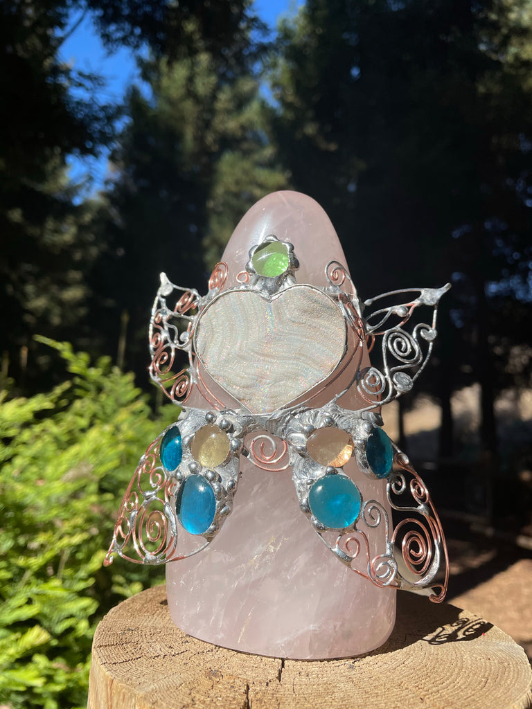 Rose Quartz Fairy Totem