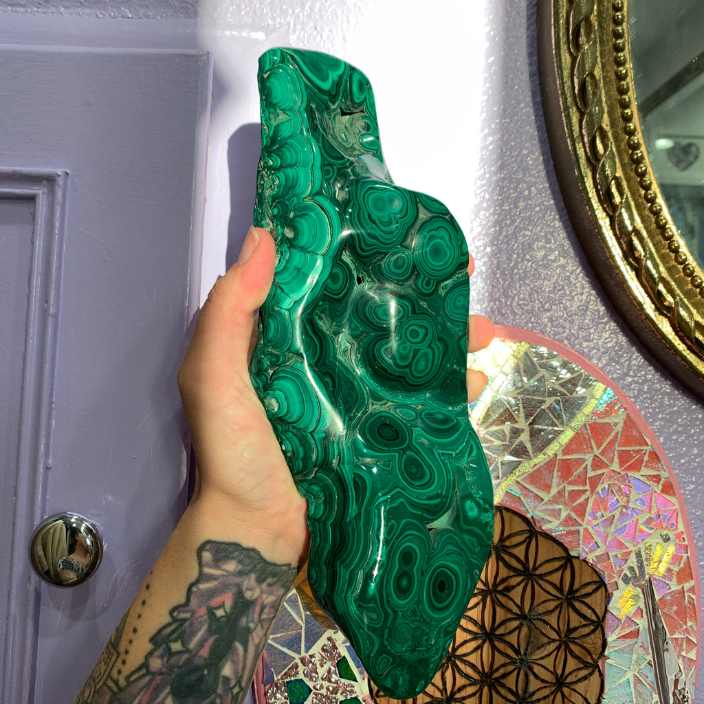 Beautiful XL Malachite for deep release