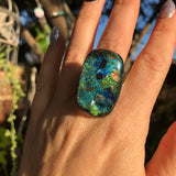 Dichroic glass ring no. 2