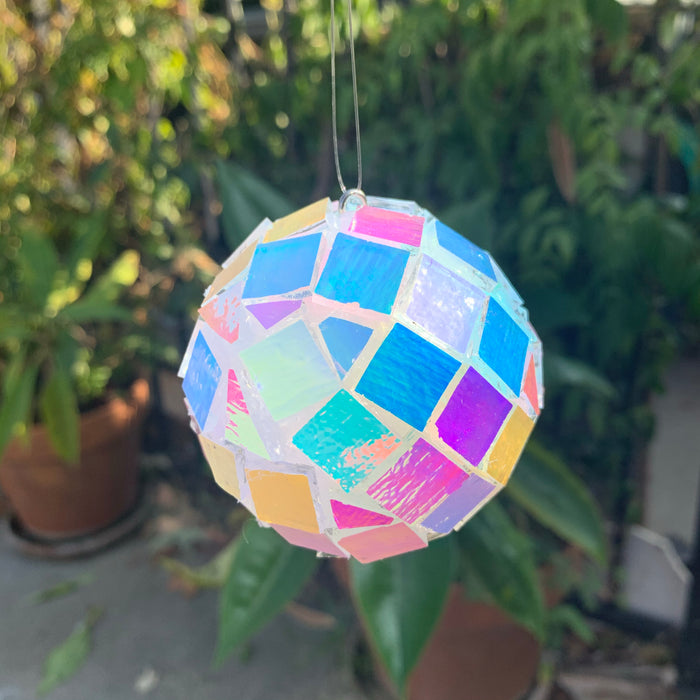 Mini dichroic glass disco ball!