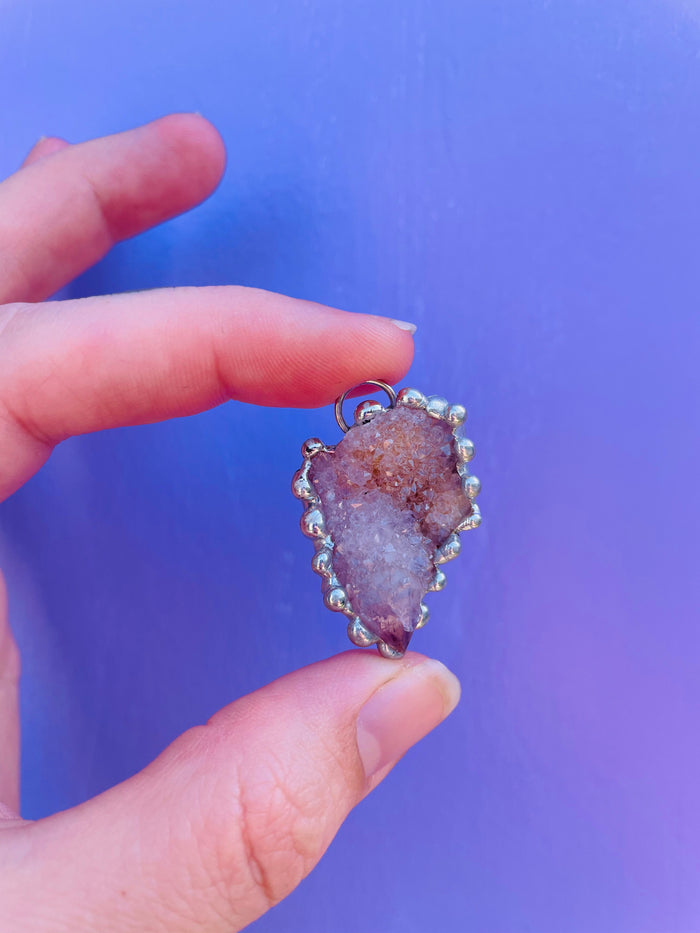 Amethyst Spirit Quartz Pendant no.4 - amplified master healer