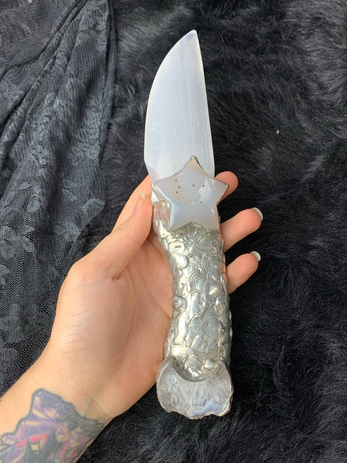 Selenite Athame
