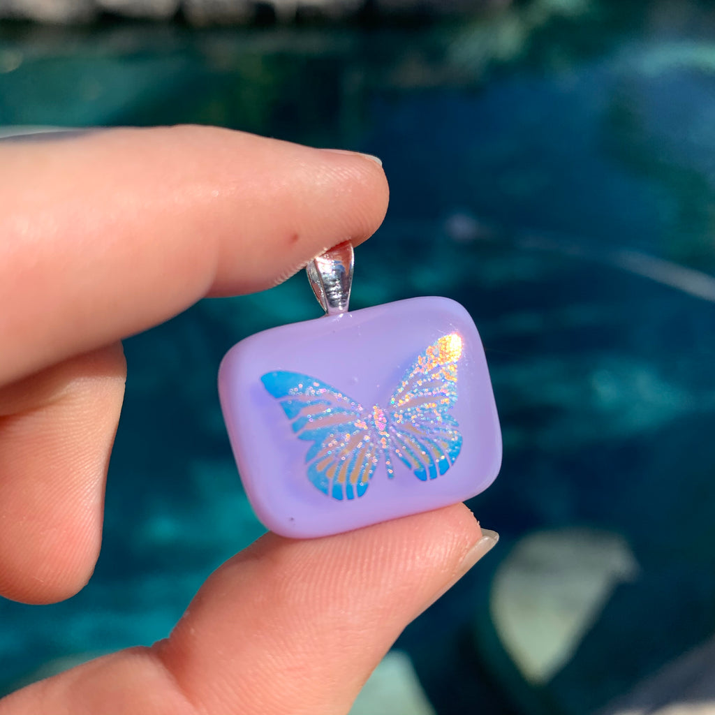 Glass Butterfly Pendant (choose one)