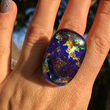 Dichroic glass ring no.5