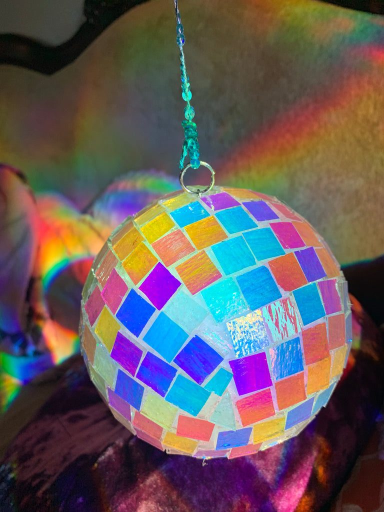 Dichroic Glass Rainbow Disco Ball