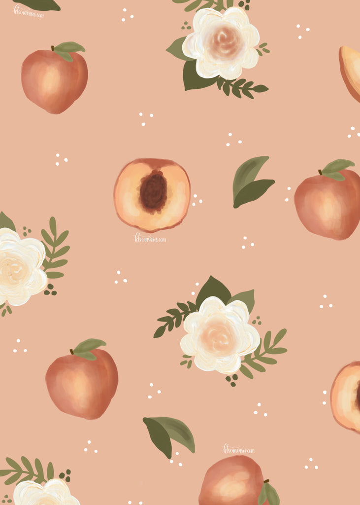 Peaches Florals Wallpaper Kt S Canvases