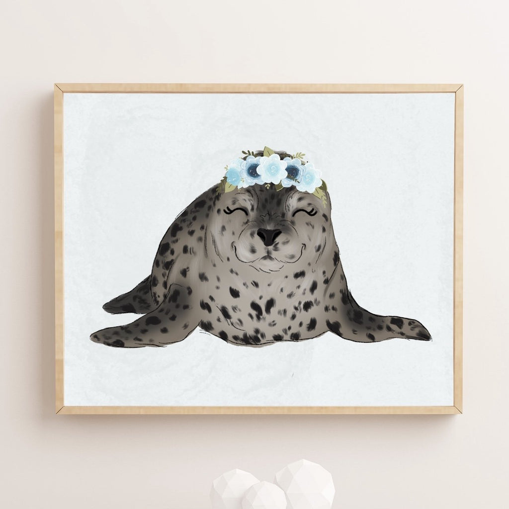 Spotted Seal Art Print