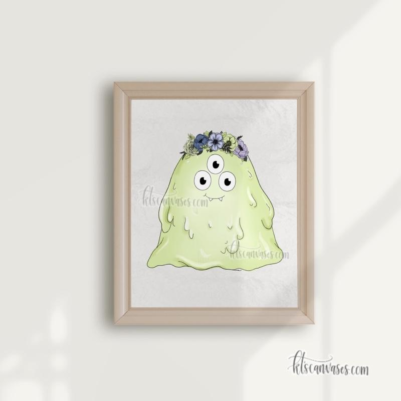 Betty Blob the Monster Art Print