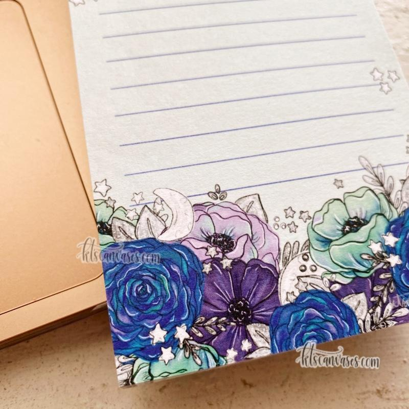 Starry Florals Notepad 100 sheets (3 x 5 in.)