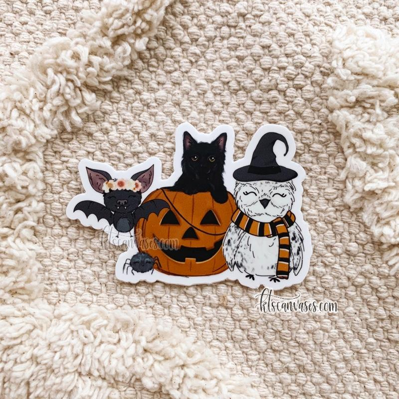 Spooky Friends Sticker