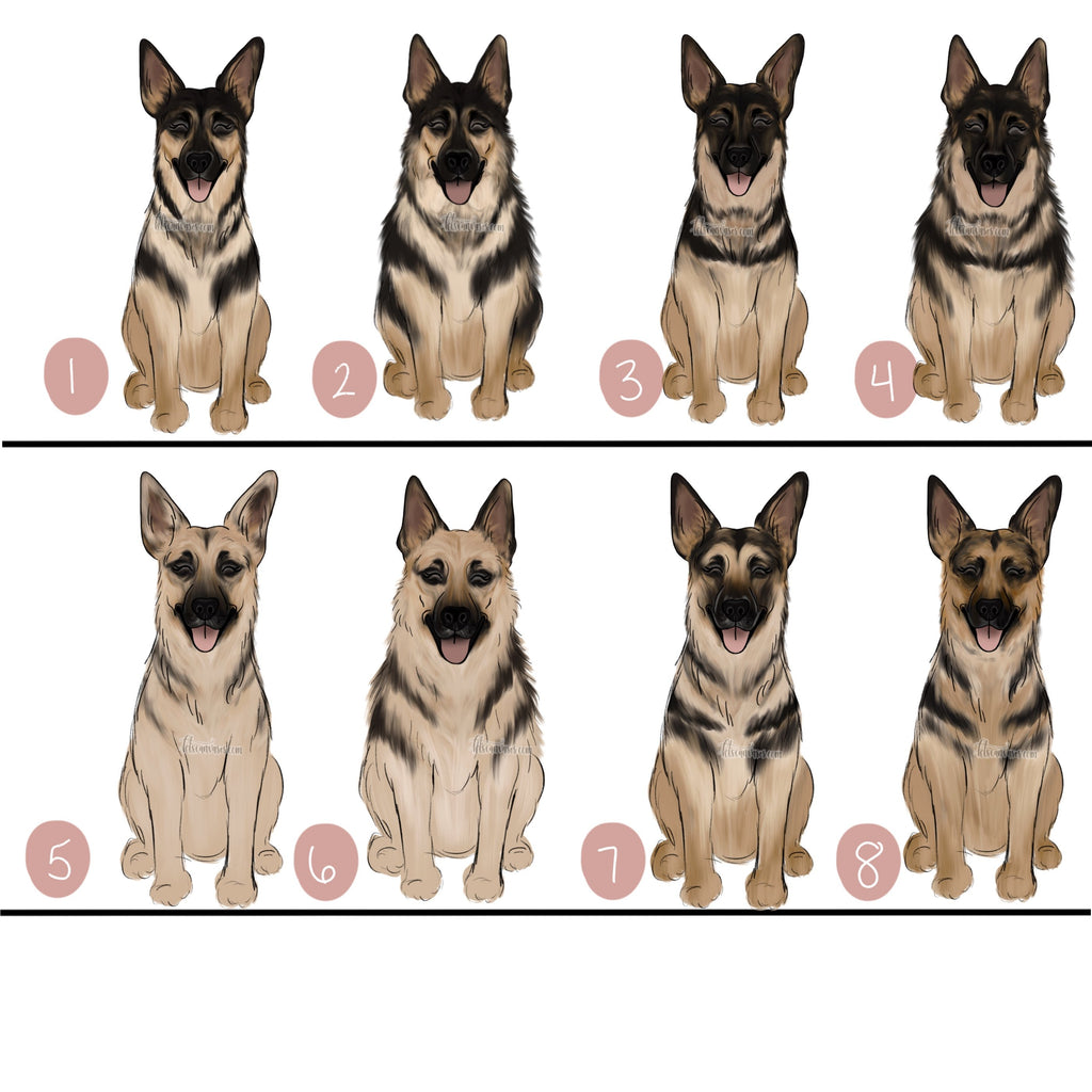 Choose Your GERMAN SHEPHERD Art Print