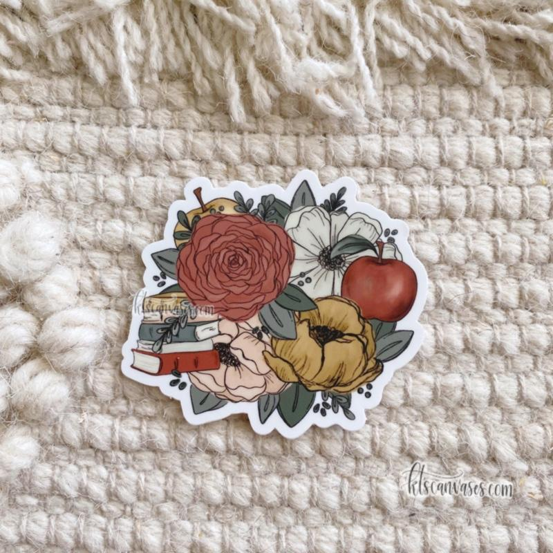 Educator Inspired Florals Sticker