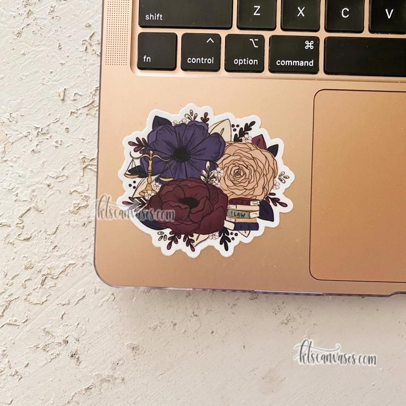 Legal Professional Inspired Florals Sticker