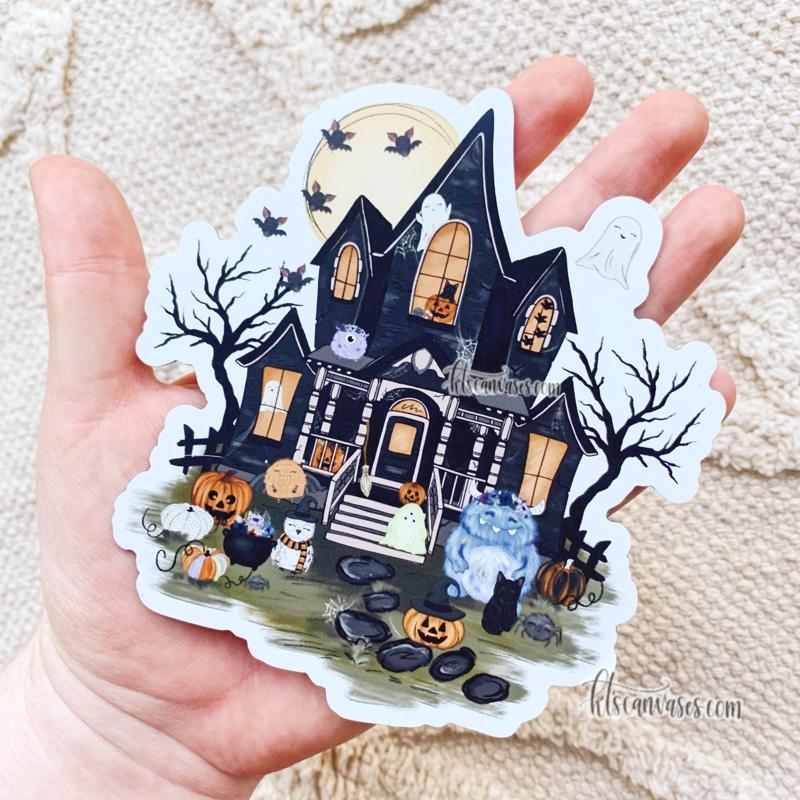 Haunted House of Spooky Friends MAGNET