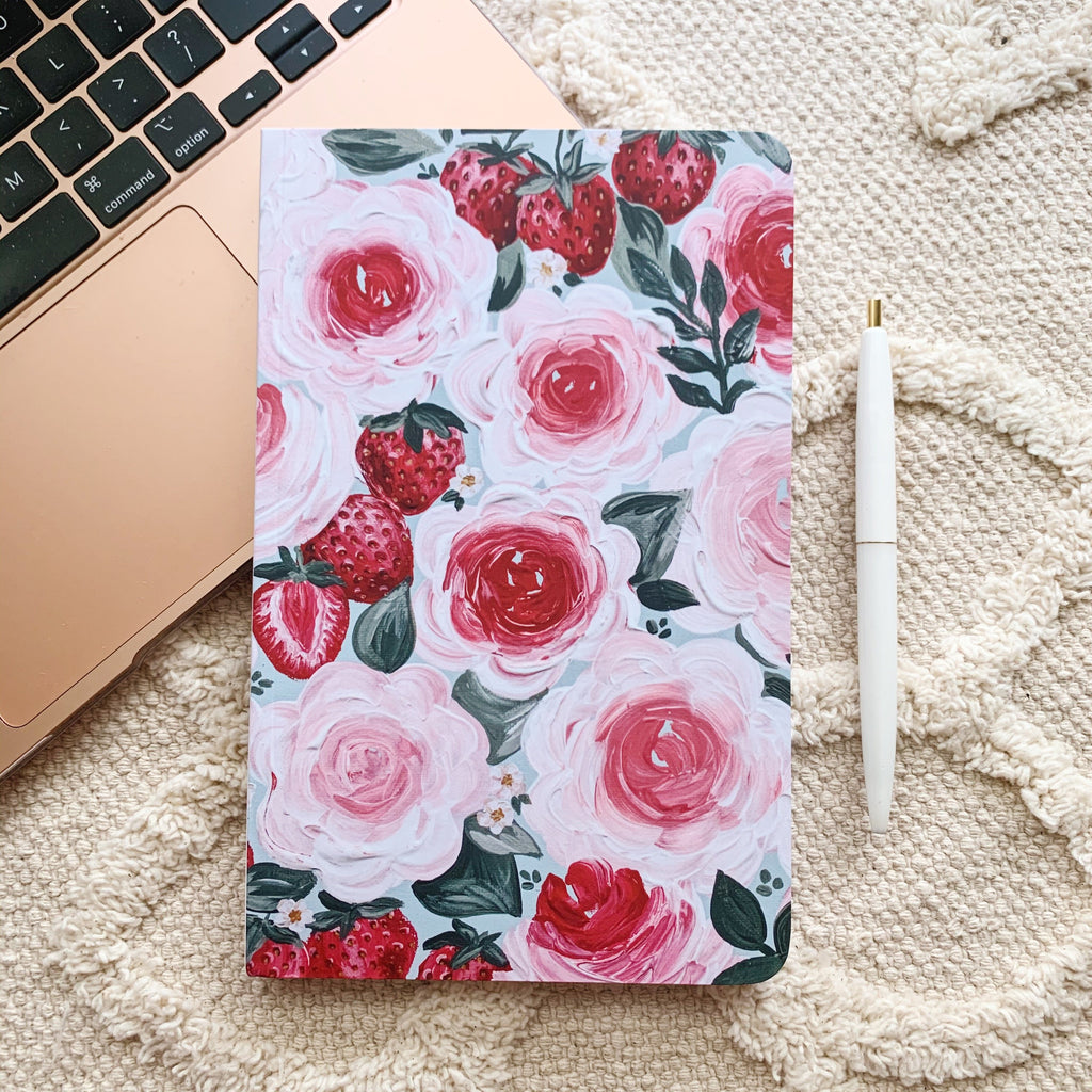 Strawberry Florals LINED Notebook