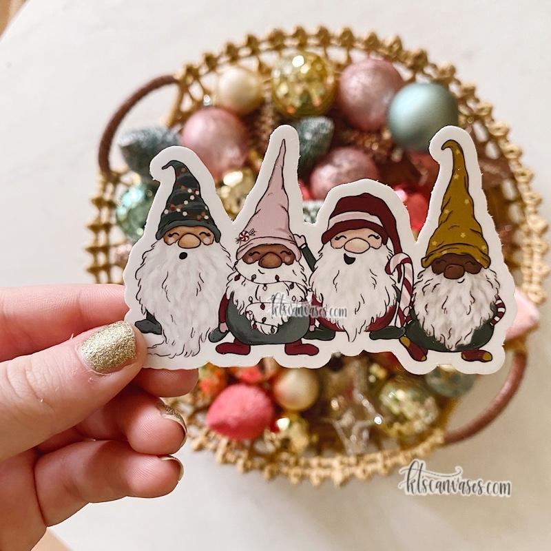 Little Christmas Gnomes Sticker