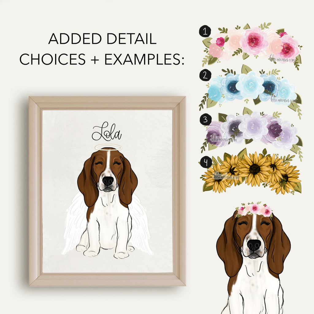 Choose Your BASSET HOUND Art Print