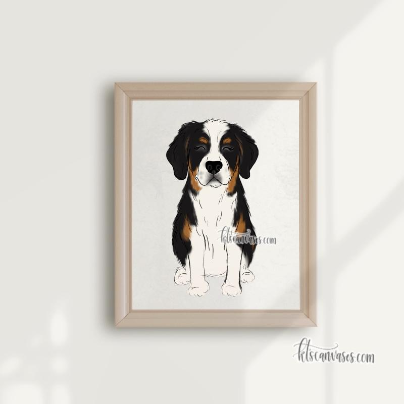 Choose Your BERNESE MOUNTAIN DOG Art Print