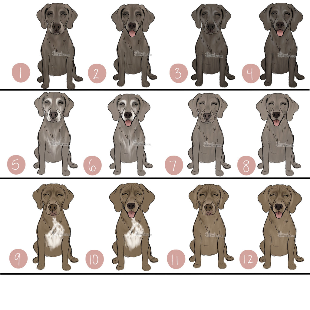 Choose Your WEIMARANER Art Print