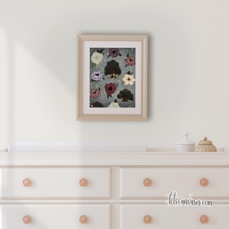 Whimsical Willow Pattern Art Print