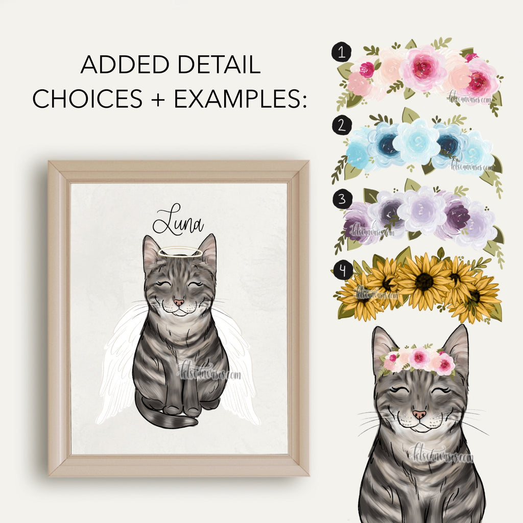 Choose Your GRAY CAT Art Print