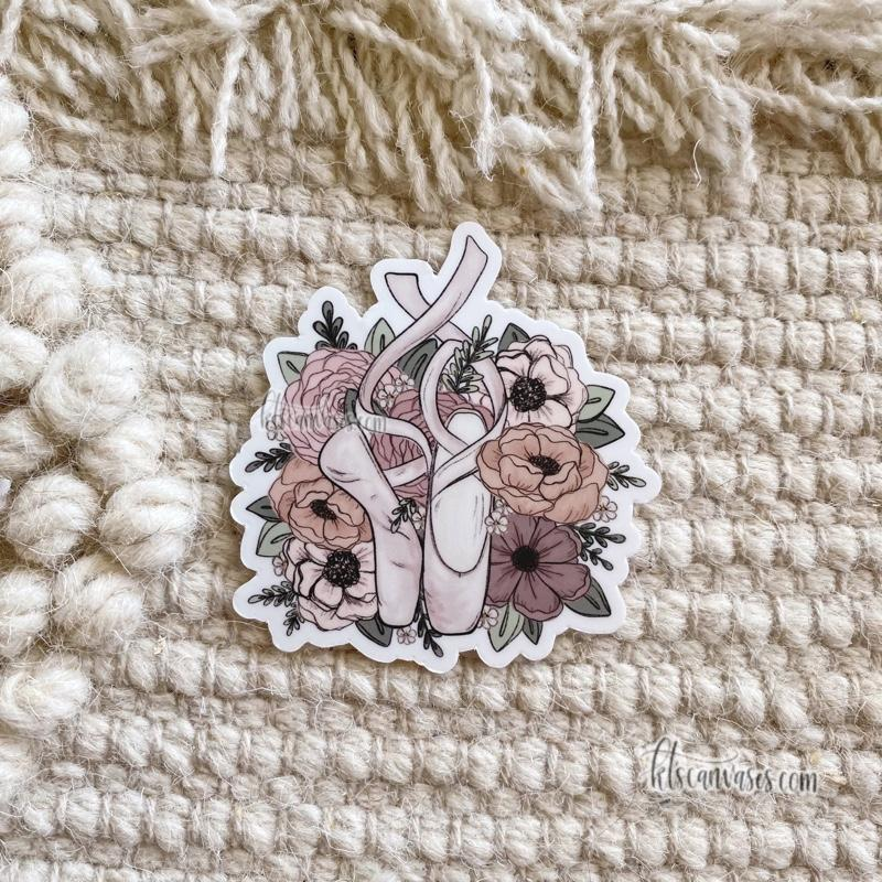 Dancer Inspired Florals Sticker