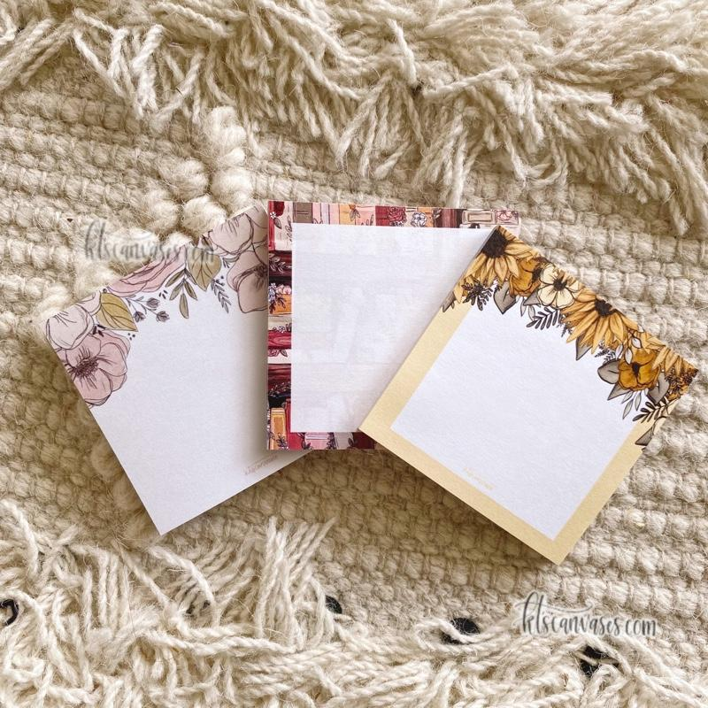 Floral Post-It Notes Set of 3