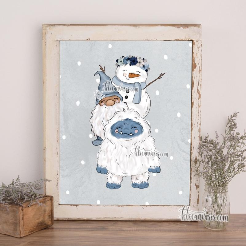 Frosty Friends Art Print