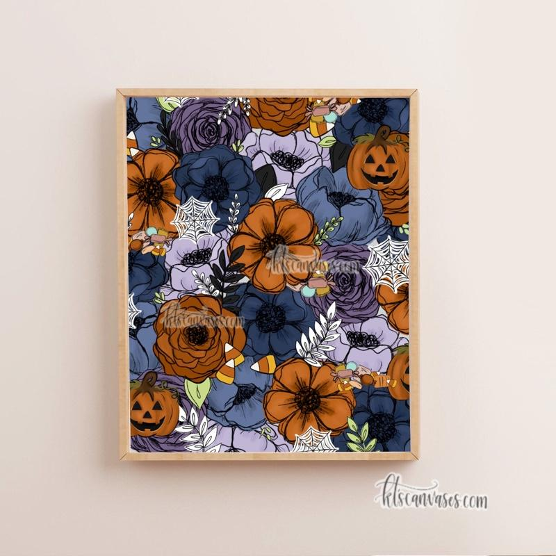 Spooky Florals Set of 2 Art Prints
