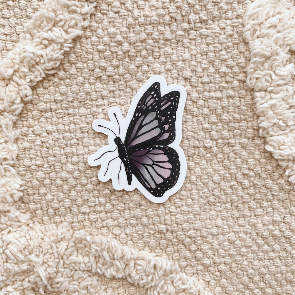 Mini Purple Butterfly #2 Sticker