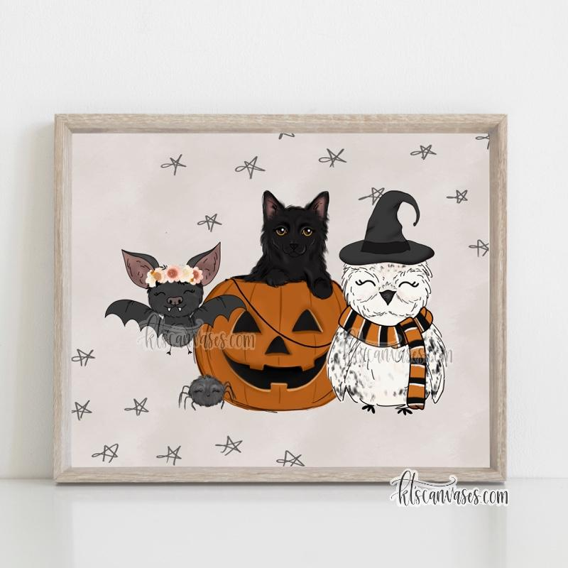 Spooky Friends Art Print