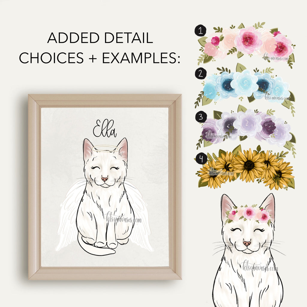Choose Your WHITE CAT Art Print