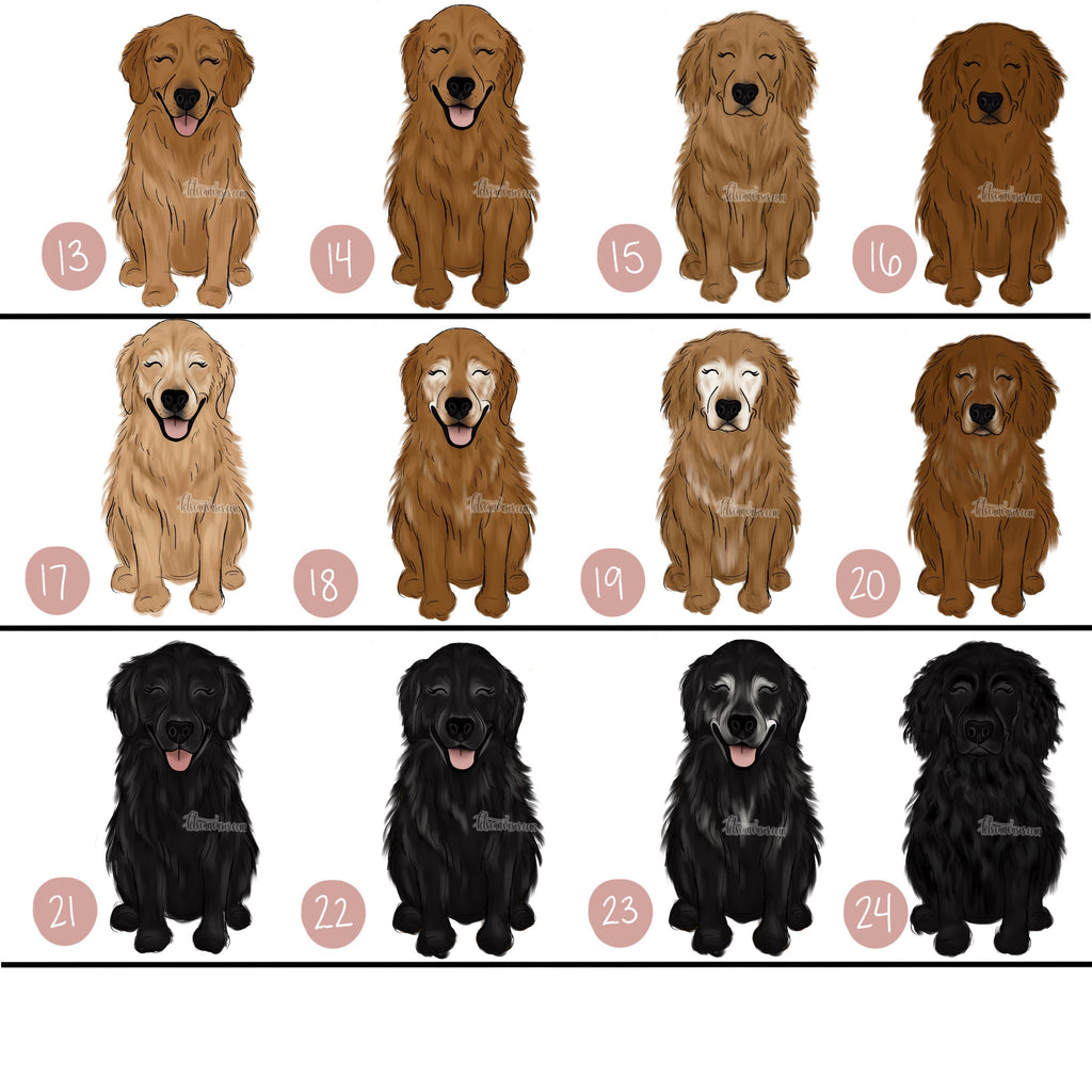 Choose Your GOLDEN RETRIEVER Art Print