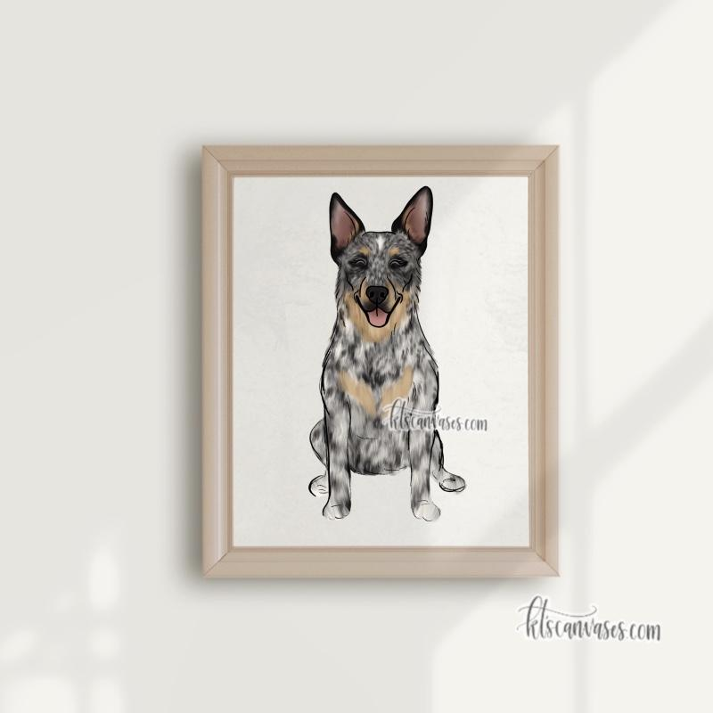 Choose Your AUSTRALIAN CATTLE DOG/BLUE HEELER Art Print
