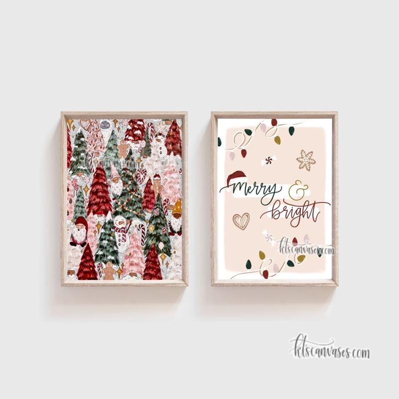 Merry & Bright Set of 2 Art Prints