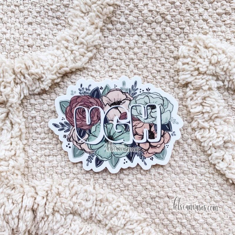 Floral Ugh Sticker