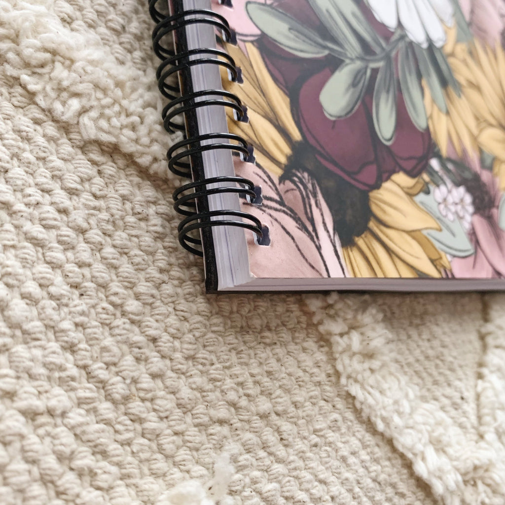 Floral Mix 8.5 x 11 in. Spiral LINED Notebook
